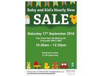 Baby and Kid's Nearly New Sale Sat 17th Sep 2016 at Towcester Town Hall, Towcester