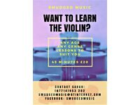 VIOLIN LESSONS - 45MINS - £20. Any Standard, Any Age, Any Genre