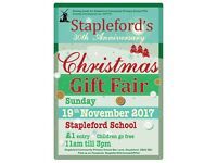Stapleford Christmas Craft & Gift fair - 19 Nov 2017, 11am to 3pm - Celebrating 30 years