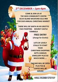 Stalls available for our Christmas market. Wickford SS12 9NR. 01268 572727