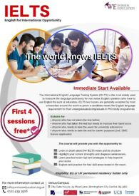 IELTS Preparation FIRST 4 SESSIONS FREE
