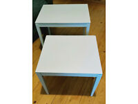 Soft grey up-cycled retro nest of tables, bedside table, coffee table, vintage