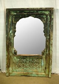 Beautiful Malysian wooden hand carved standing mirror