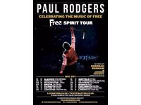 Paul Rodgers Free Spirit Tour - Tickets x2 - 20th May 2017 - Nottingham