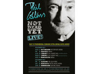 2 x Phil Collins Tickets, Newcastle Metro Arena, Saturday 2nd Dec 2017, Great seats Block 101, Row G