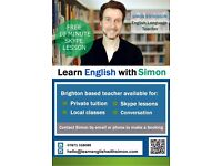 Learn English with Simon! Private English lessons and classes from CELTA qualified Teacher :-)