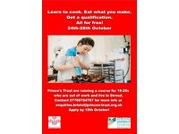Free short cooking course for 16-25s!