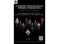 Comedy Projectorgrams show - An amazing line-up of comic talent on video. Comedy with a difference.