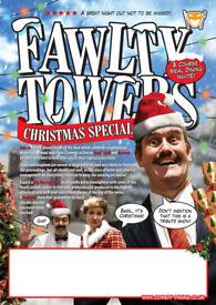 FAWLTY TOWERS CHRISMAS COMEDY DINNER SHOW BIRMINGHAM 17/12/2021