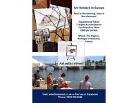 Art Holidays in Portugal and France