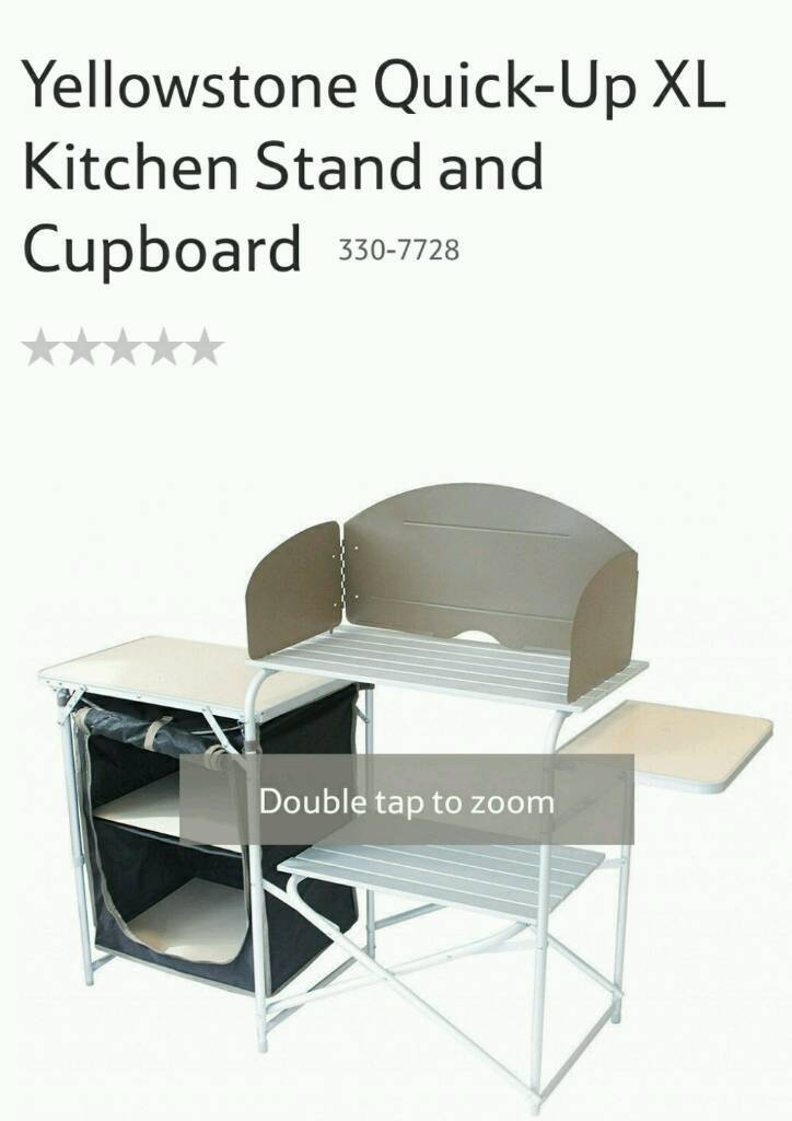 Kitchen stand and cupboard perfect for camping