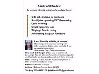 A Judy of All Trades - odd jobs, de-cluttering, small garden jobs, small painting & decorating jobs