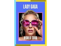 4x Lady Gaga standing tickets, O2 Arena London, Wednesday 11th October 2017