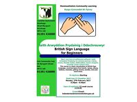 British Sign Language for Beginners class in Usk, Monmouthshire