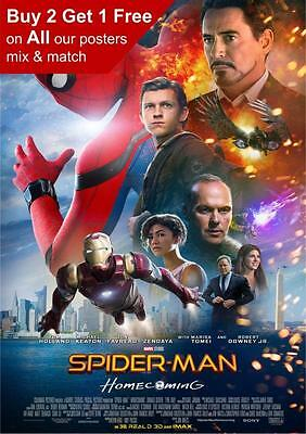 Spiderman Homecoming Movie Poster A5 A4 A3 A2 A1