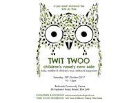 Twit Twoo children's nearly new sale in Bristol