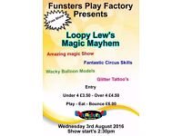 Loopy Lew's Amazing Magic Show On 3rd August At Funsters Play Factory