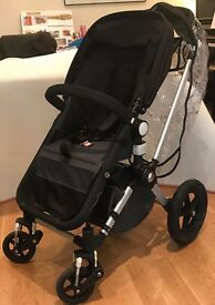 Bugaboo Cameleon 2 travel system (Black) with Maxi Cosi seat ISOFIX base and BabyBjorn Baby Carrier
