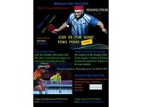 Table Tennis Players wanted for Reading TT League