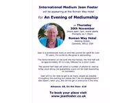 Evening of Mediumship with Jean Foster on 30 November