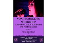 Vox Techniques Workshop-An Intro to Singing & Performance (Vox Stars-Singing & Performance Studio)