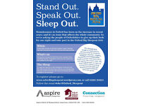Volunteers needed for the Oxford Big Sleep Out on Friday 28th October