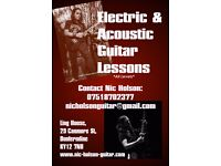 Electric and Acoustic Guitar Lessons in Dunfermline