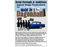 Jigsaw Stage Productions are searching for Cast - especially Men - for 'Made in Dagenham'