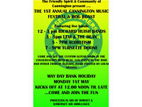 4 live bands Monday May 1st Cannington + customised guitar show