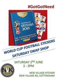 World Cup Stickers Saturday Swap Shop