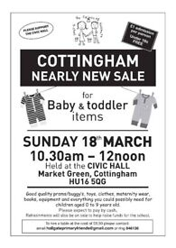 Nearly New Sale for Baby & Toddler items