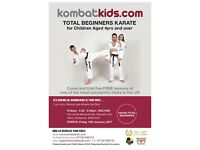 New kids karate class, first five lessons FREE