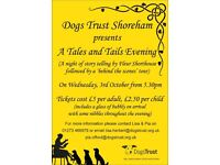 """A """"Tales & Tails"""" evening at Dogs Trust Shoreham"""
