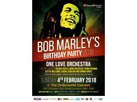 Bob Marley's Birthday Party 2018 @ The Underworld Camden, London - 4th of February 2018
