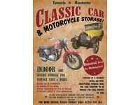 classic car and bike storage