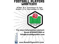 FOOTBALL PLAYERS NEEDED RHYFC