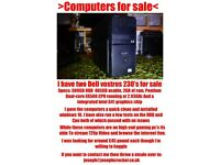 Dell Vostoros computers for sale