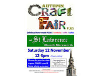 Autumn Craft Fair Plus... delicious home made food, cakes in our Palladian style church