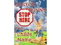 Personalised Easter Bunny posters