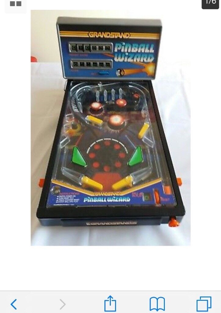 Grandstand pin ball VINTAGE GRANDSTAND PINBALL WIZARD. ELECTRIC GAME. SPACE MOTIF with original box