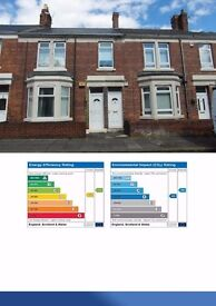 ONE BED GROUND FLOOR FLAT, FULLY FURNISHED, WITH OWN BACK YARD, WALLSEND