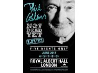 Phil Collins Tickets for sale at Royal Albert Hall