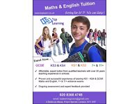 Maths & English Tuition YR1-YR11 & 7+/11+. Direct teaching, higher achieving & confidence boosting.