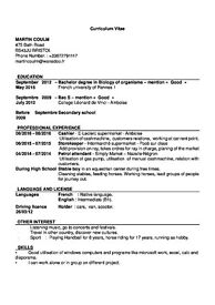 French student looking for a part time job.