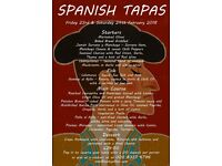 SPANISH TAPAS NIGHT 23RD & 24TH FEB- JOIE DE MANGER - NORTH CHEAM, WORCESTER PARK