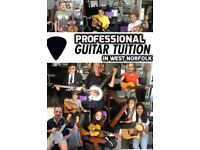 Professional 1 to 1 Guitar, Bass and Banjo Lessons In West Norfolk