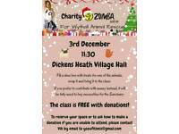 Charity Zumba Fitness session with Vik - 3rd December 11:30 Dicken Heath Village Hall