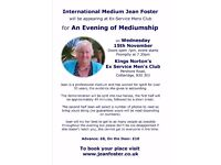 Evening of Mediumship with Jean Foster on 15 November