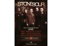 Stone Sour Rock City 19 June 2018 Nottingham 2 tickets £100