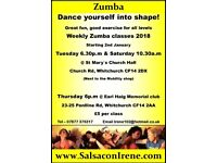Zumba classes for 2018